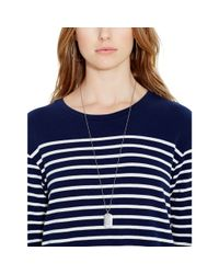 Polo Ralph Lauren - Blue Striped Crewneck Dress - Lyst