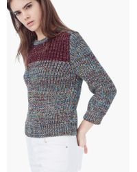 Mango - Purple Metallic Sweater - Lyst