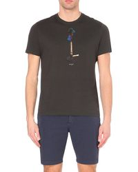 Paul Smith | Black Bunson Burner Cotton T-shirt for Men | Lyst