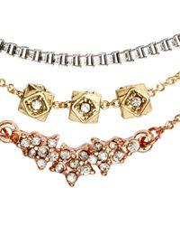H&M - Metallic 3-Pack Bracelets - Lyst