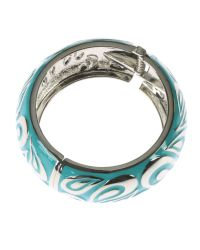Indulgence Jewellery | Blue Large Turquoise Round Bangle | Lyst