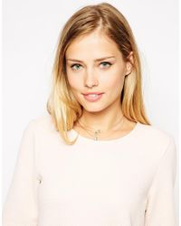 ASOS - Metallic Illusion Crystal Choker Necklace - Lyst