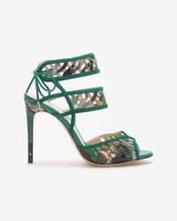 Alexandre Birman | Green Python Cut Out Stiletto Sandal | Lyst