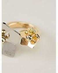 Fendi - Metallic Flower Ring - Lyst