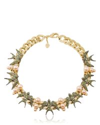 Schield | Black Swallow Necklace | Lyst