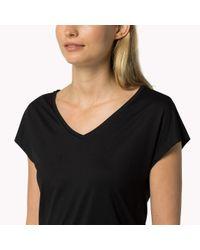Tommy Hilfiger - Black Modal Stretch V-neck T-shirt - Lyst