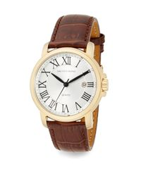 Saks Fifth Avenue | Metallic Goldtone Stainless Steel & Croc-embossed Leather Strap Watch | Lyst