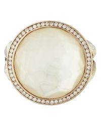 Ippolita | Metallic Silver Mother Of Pearl And Diamond Stella Lollipop Ring | Lyst