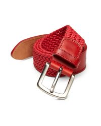 Isaia | Red Fibbia Braided Leather Belt for Men | Lyst