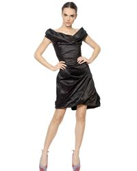Vivienne Westwood - Black Off Shoulder Silk Taffeta Dress - Lyst