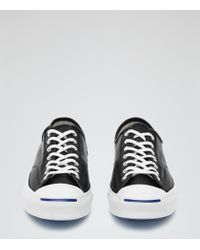 Reiss - Black Jack Purcell Leather Jack Purcell Sneakers for Men - Lyst