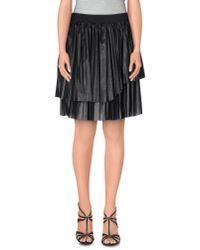 Nude - Black Knee Length Skirt - Lyst