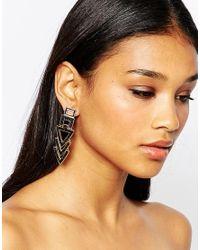 ALDO | Black Eterraven Drop Earrings | Lyst