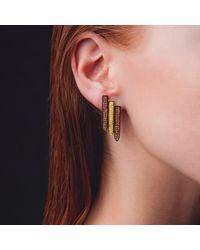 Ralph Masri - Sacred Windows Pink Grey Earrings - Lyst