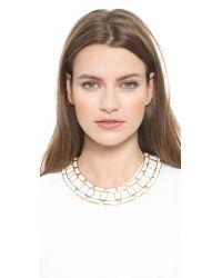 Rachel Zoe - Eloise Leather Link Collar Necklace - White - Lyst