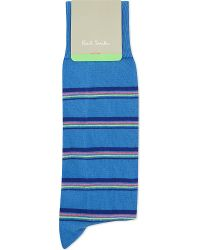 Paul Smith - Blue Stripe Socks for Men - Lyst