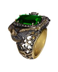 Queensbee - Green Bird Finger Ring - Lyst