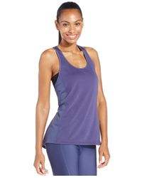 Under Armour | Blue Fly-by Mesh Tank | Lyst