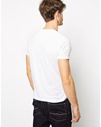 French Connection | White T-shirt V-neck for Men | Lyst