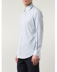 Etro - Blue Printed Shirt for Men - Lyst