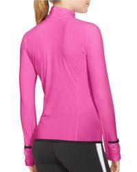 Lauren by Ralph Lauren | Pink Performance Jersey Pullover | Lyst