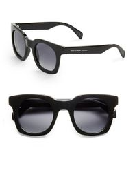 Marc By Marc Jacobs | Black Geo 46mm Square Sunglasses | Lyst