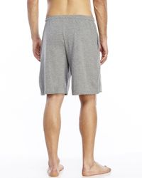 Geoffrey Beene | Gray Knit Drawstring Lounge Shorts for Men | Lyst