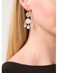 Marie-hélène De Taillac - Pink 22kt Gold Rose Quartz Chandelier Earrings - Lyst
