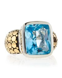 John Hardy - Blue Topaz Radiant Ring - Lyst