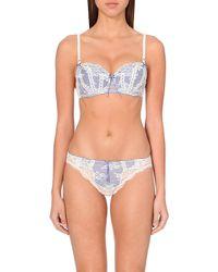 Heidi Klum Intimates | White Heidi Balconette Contour Lace Bra, Women's, Size: 36c, M Mallow/velvet Morning | Lyst