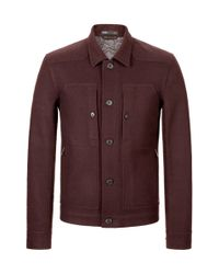 Onassis Clothing | Red Unlined Fused Shirt Jacket for Men | Lyst