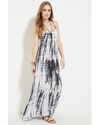 2d3ff3306029 Forever 21 Boho Me Tie Dye Maxi Dress in Black - Lyst