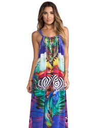 Camilla - Multicolor Drawstring Dress in Purple - Lyst