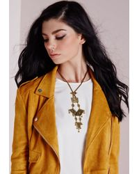 Missguided - Metallic Tiered Plate Necklace - Lyst