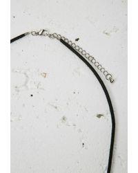 Forever 21 - Black Triangle Fringe Pendant Necklace - Lyst