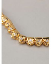 Eddie Borgo - Metallic Pave Pyramid Tennis Bracelet - Lyst