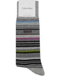 Calvin Klein - Gray Striped Socks for Men - Lyst