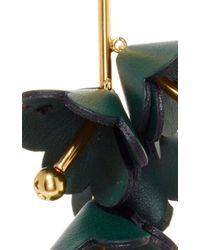 Marni - Green Spherical Leather Earrings - Lyst