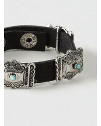 LAC - Blue Ornate Suede Bracelet* for Men - Lyst