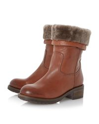 Dune Black - Brown Parrie Leather Calf Boots - Lyst