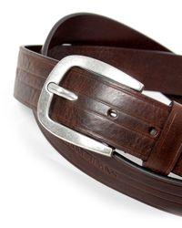 Armani Jeans | Brown Leather Logo Belt for Men | Lyst