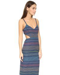 Mara Hoffman - Blue Embroidered Cutout Dress - Lyst