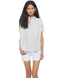 Madewell - White Courier Striped Shirt - Pearl Ivory - Lyst