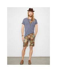Denim & Supply Ralph Lauren - Brown Floral Cotton Poplin Short for Men - Lyst