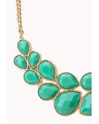 Forever 21 - Green Statement Bib Necklace - Lyst