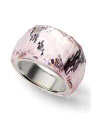 Swarovski | Metallic Silverplated Nirvana Petite Amethyst Crystal Ring | Lyst