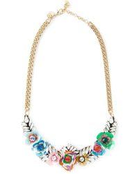 Shourouk - Metallic 'flower Multi' Necklace - Lyst