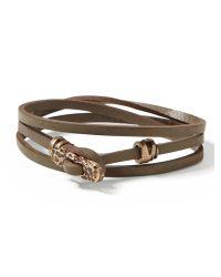 Banana Republic | Green Leather Wrap Bracelet | Lyst
