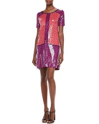Marc By Marc Jacobs | Blue Viola Printed Sequined Dress | Lyst
