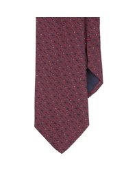 Barneys New York - Red Micro Paisley Neck Tie for Men - Lyst